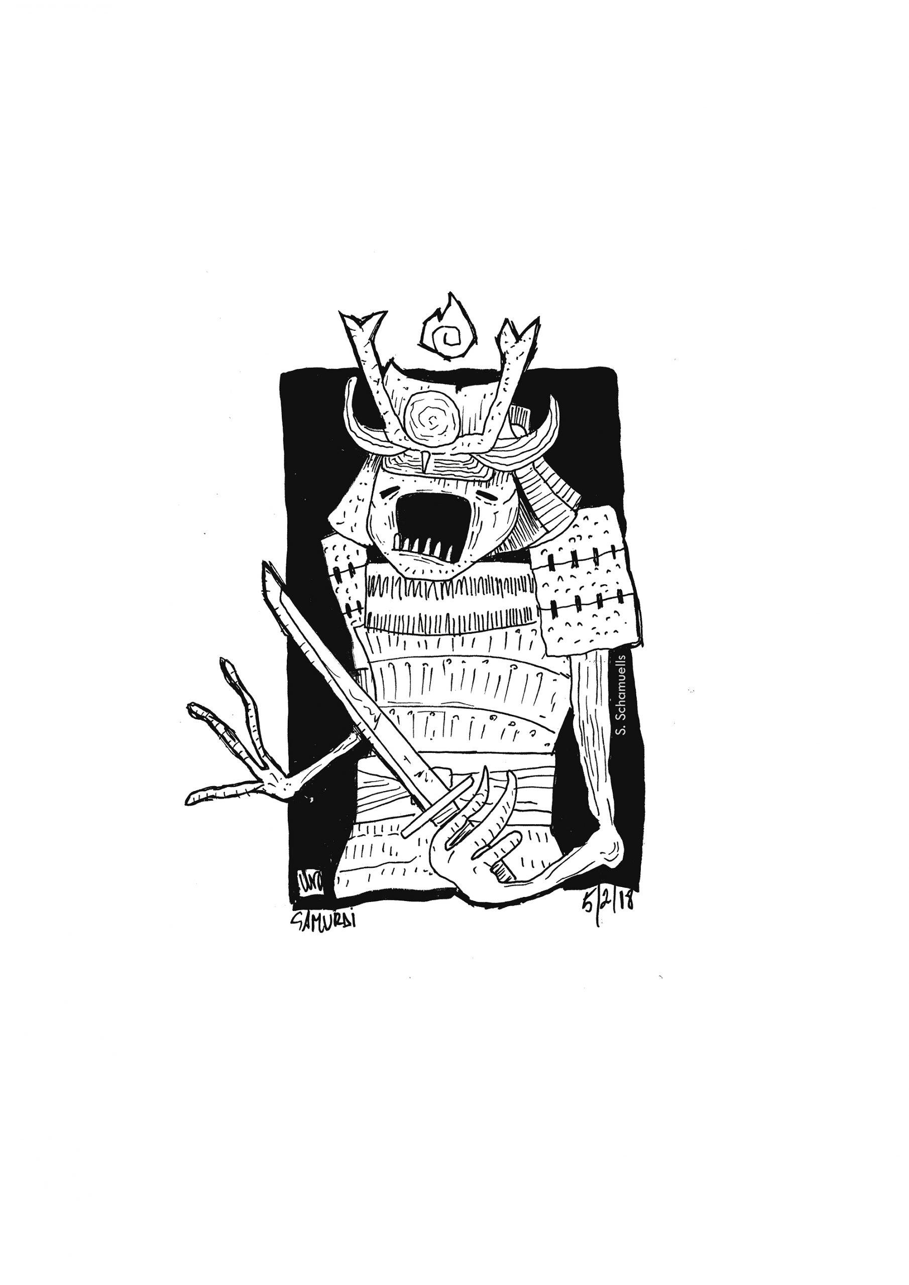 samurai huo- prints